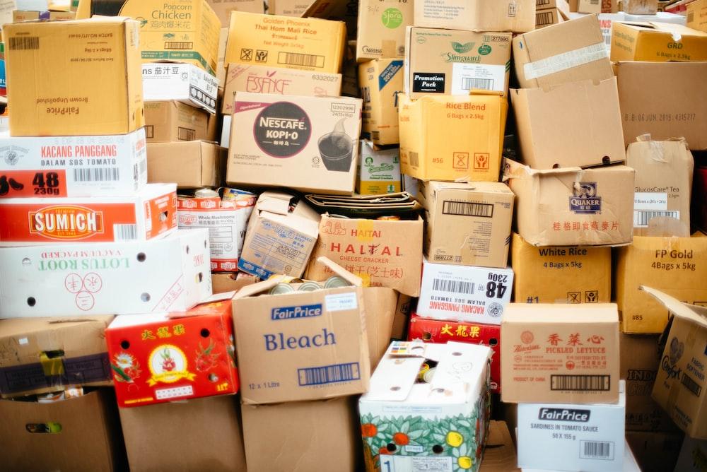 cardboard box lot