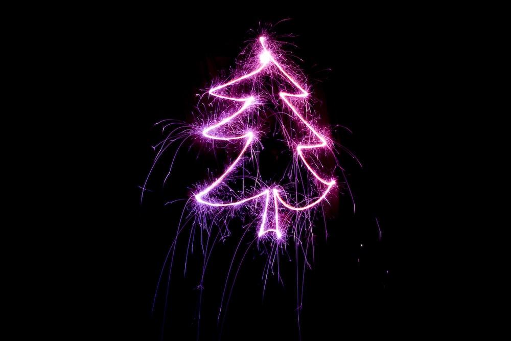 purple tree artwork