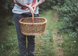 person holding basket