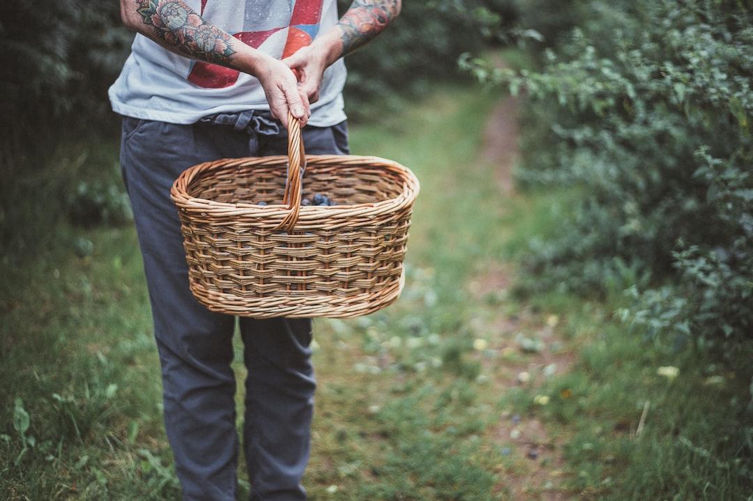 woman carrying basket