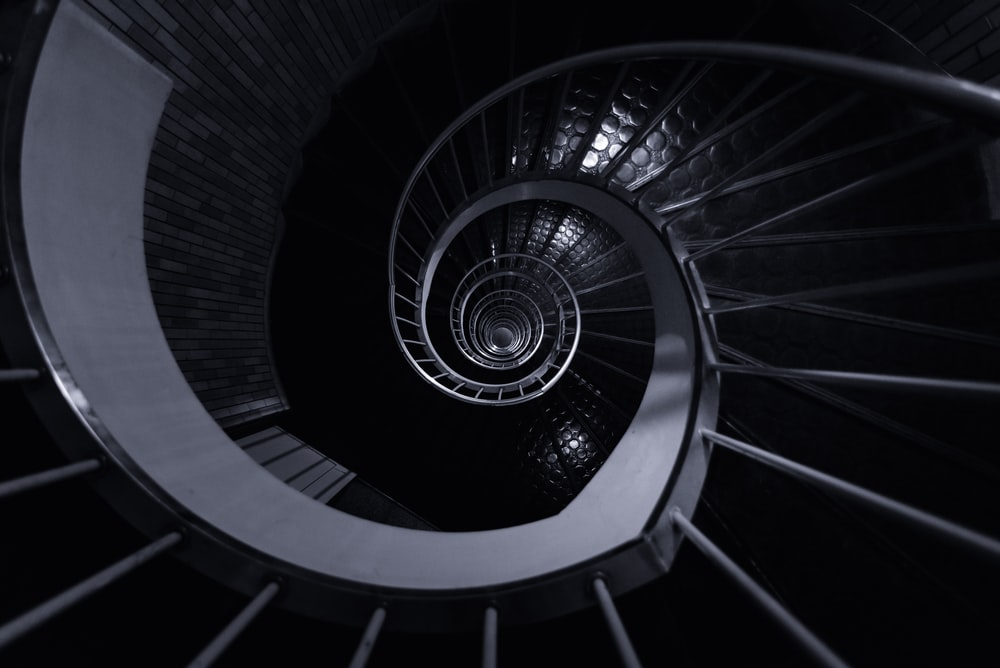 photo of spiral staircase