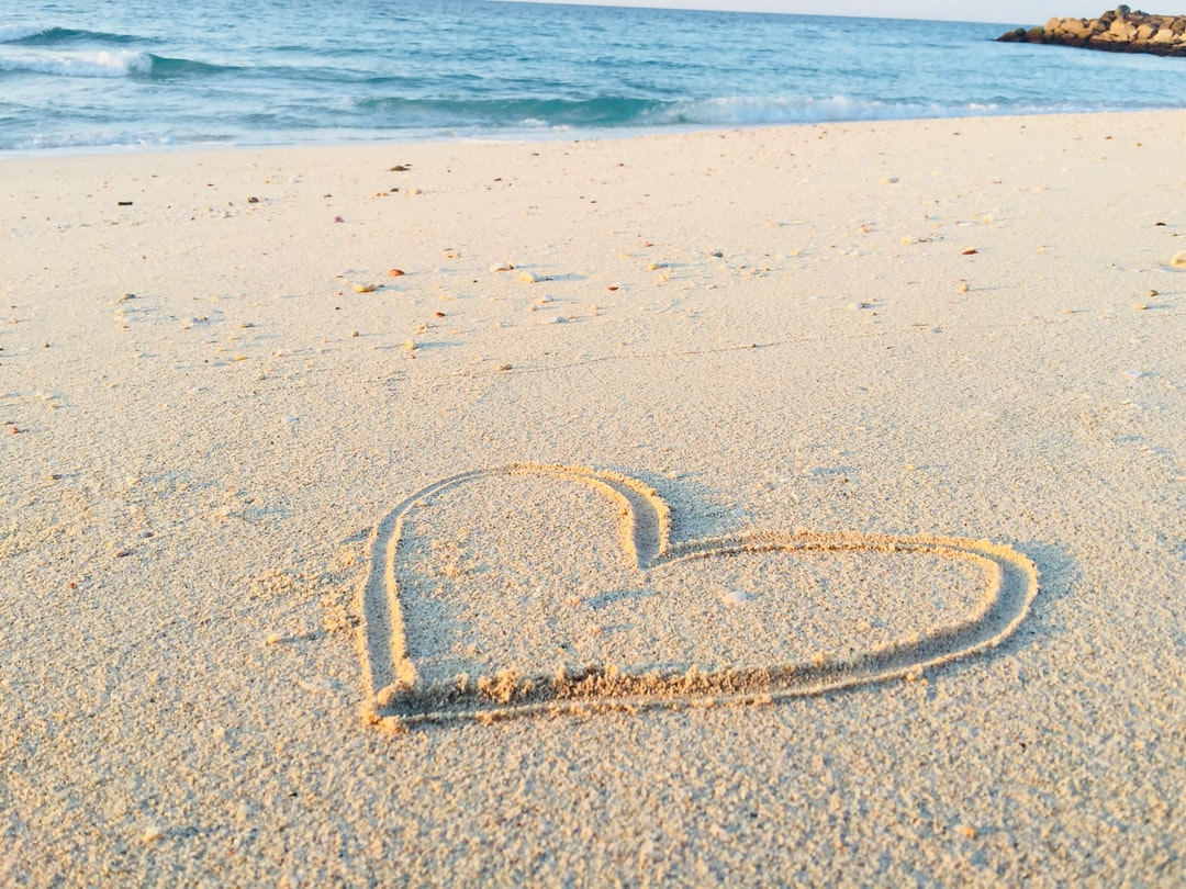 Walking along the esplanade of Hamriyah Beach, I decided to do something creative and picked up a stick in order to draw a heart into the sand. I immediately clicked a picture of it, as the nature surrounding it was beautiful and soothing.