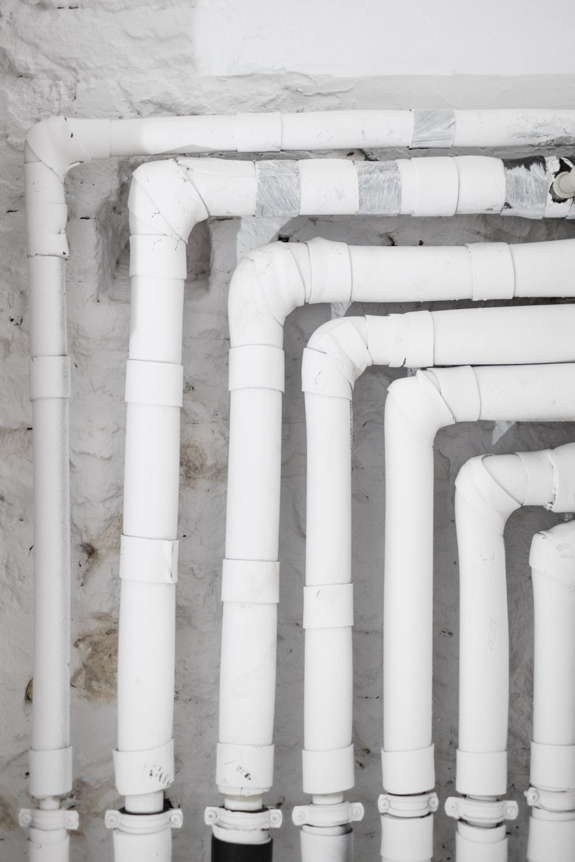 white PVC pipes