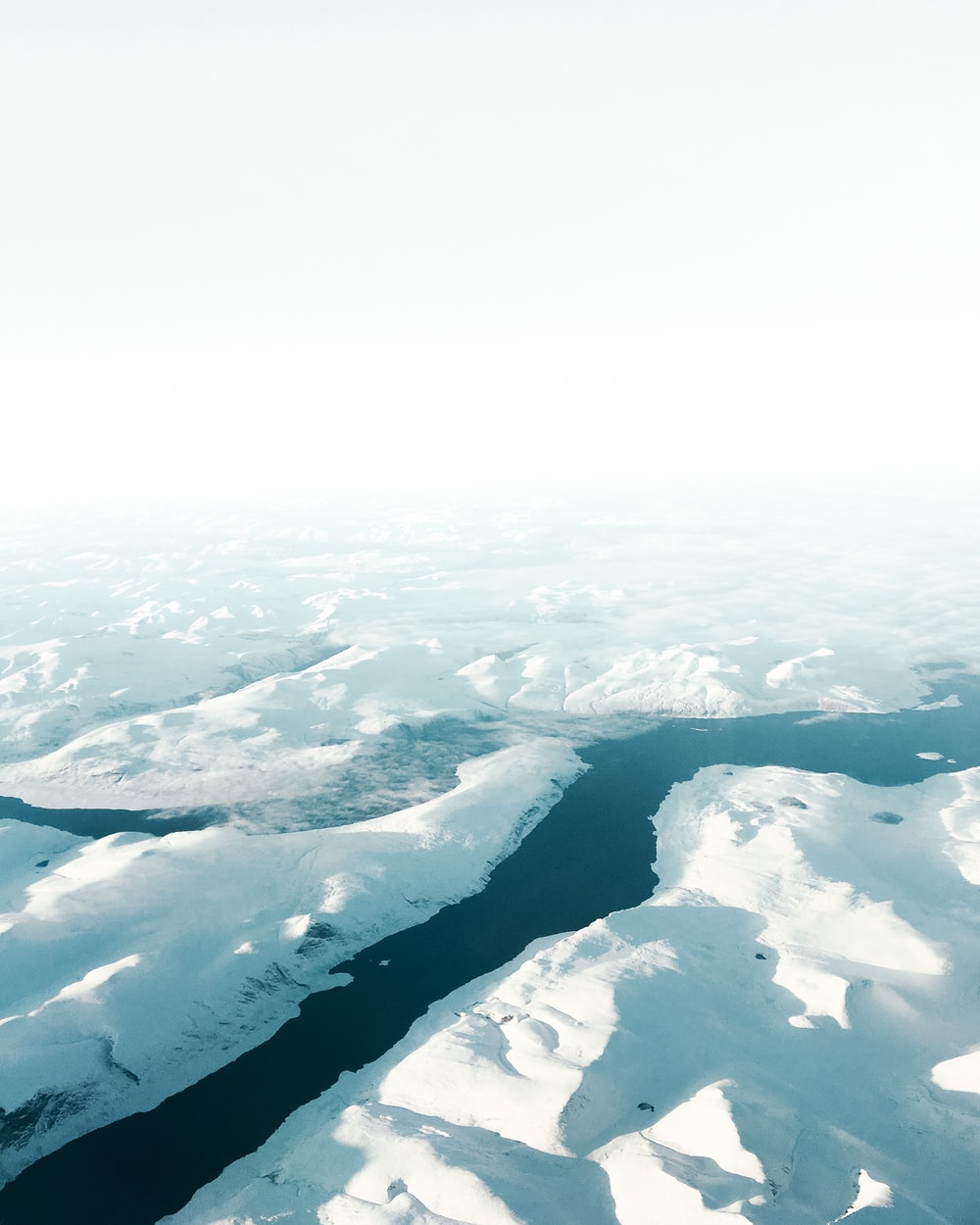 aerial photography of iceberg