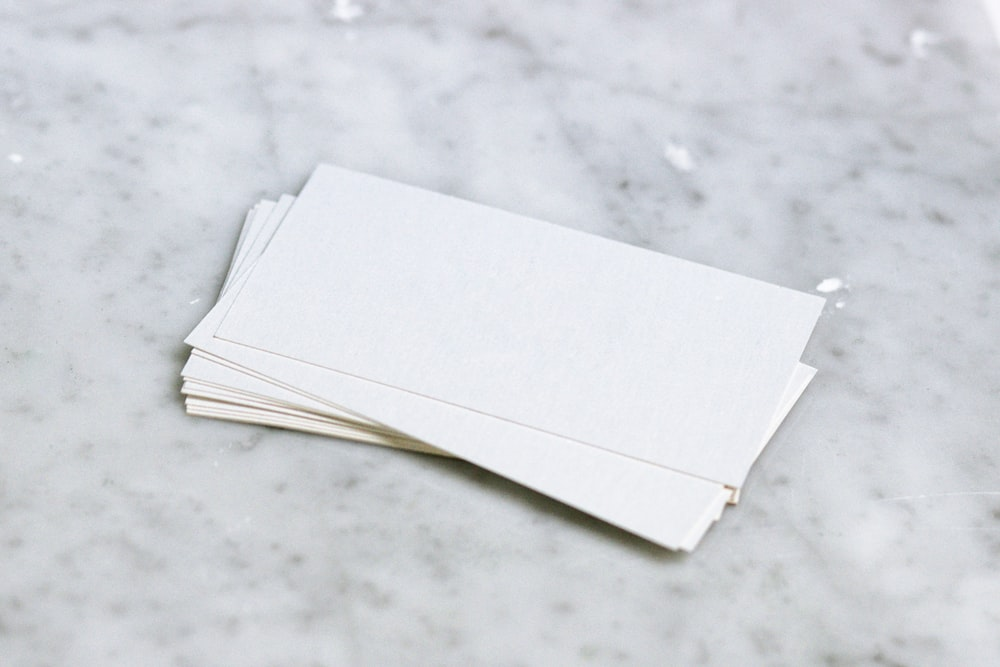 white printer paper