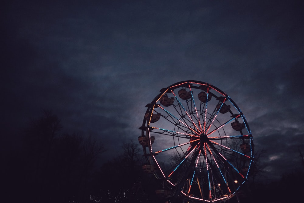 selective focus photo of ferris wheel