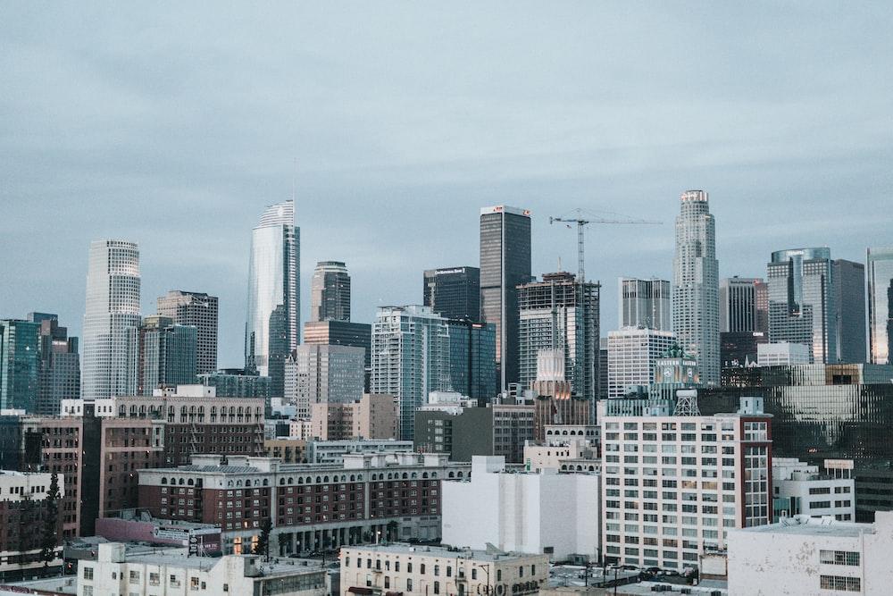 aerial photo of buildings