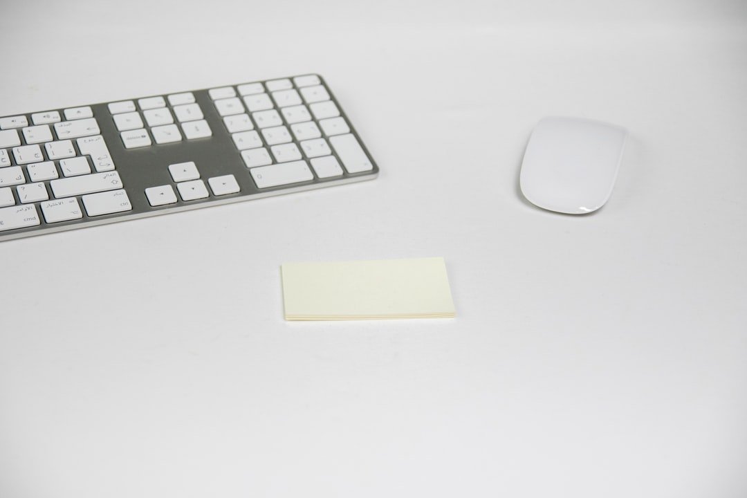 Keyboard and mouse on white background