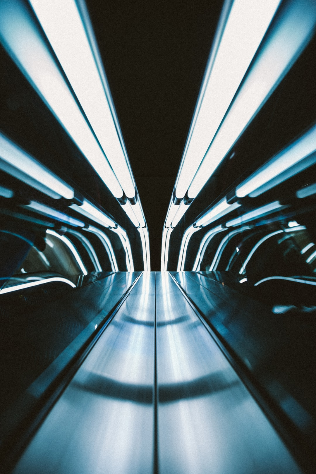 A simple shot taken with my camera centered between the escalator as I was going up.