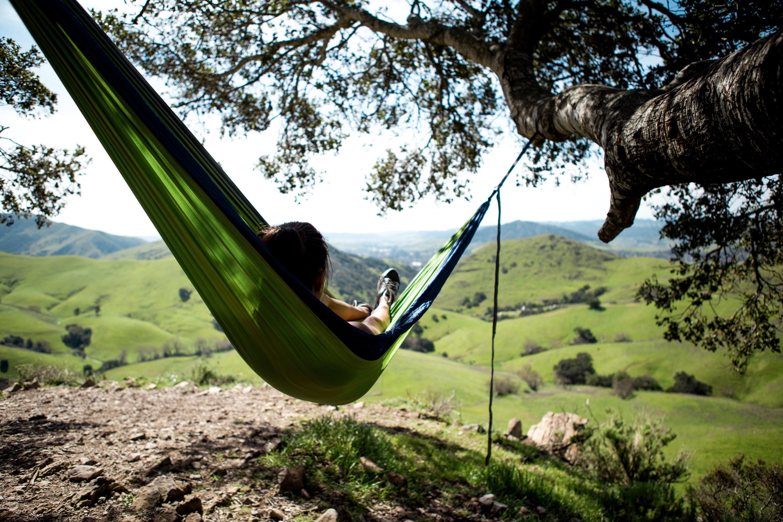 beds - girl lying in hammock