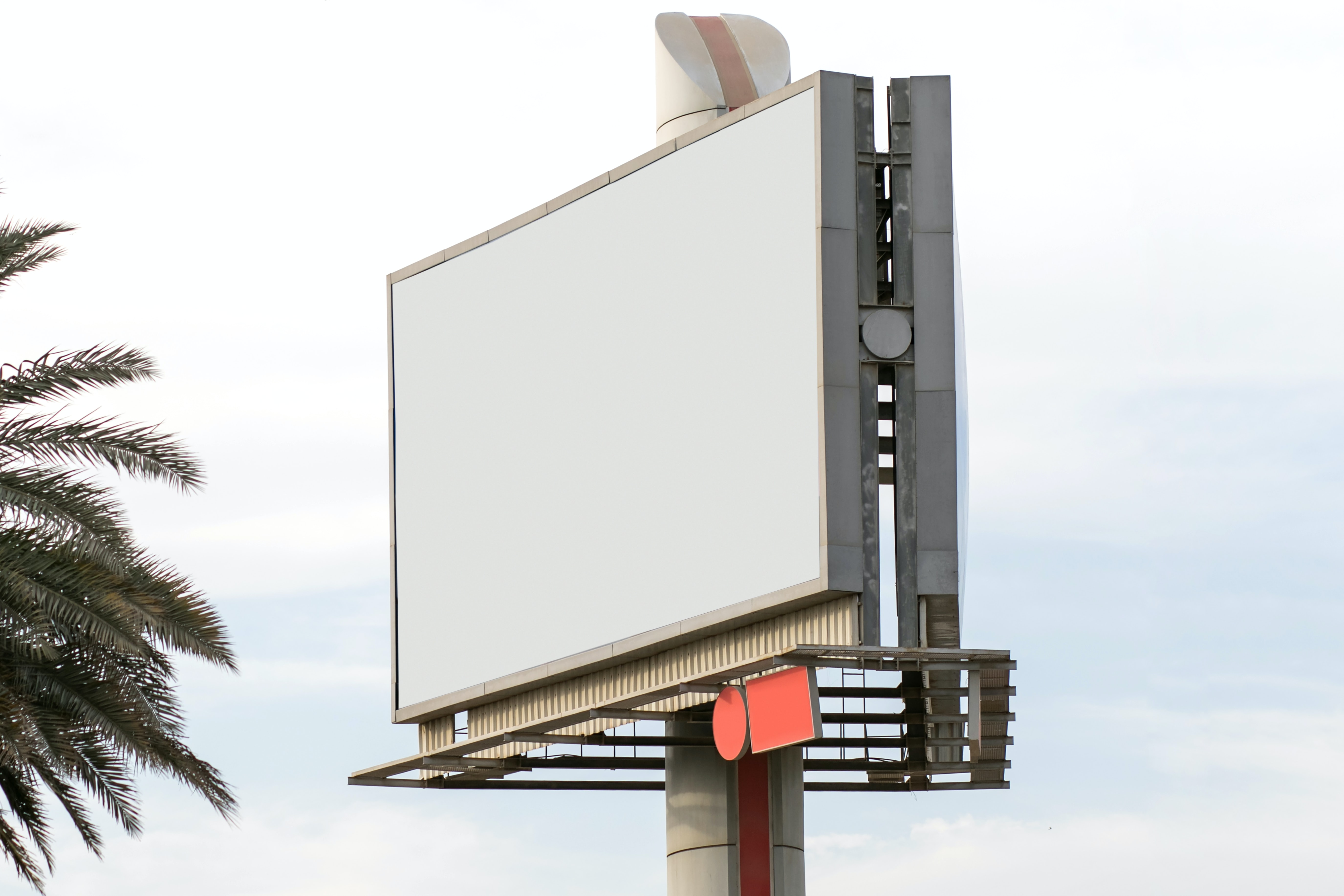rectangular blank billboard