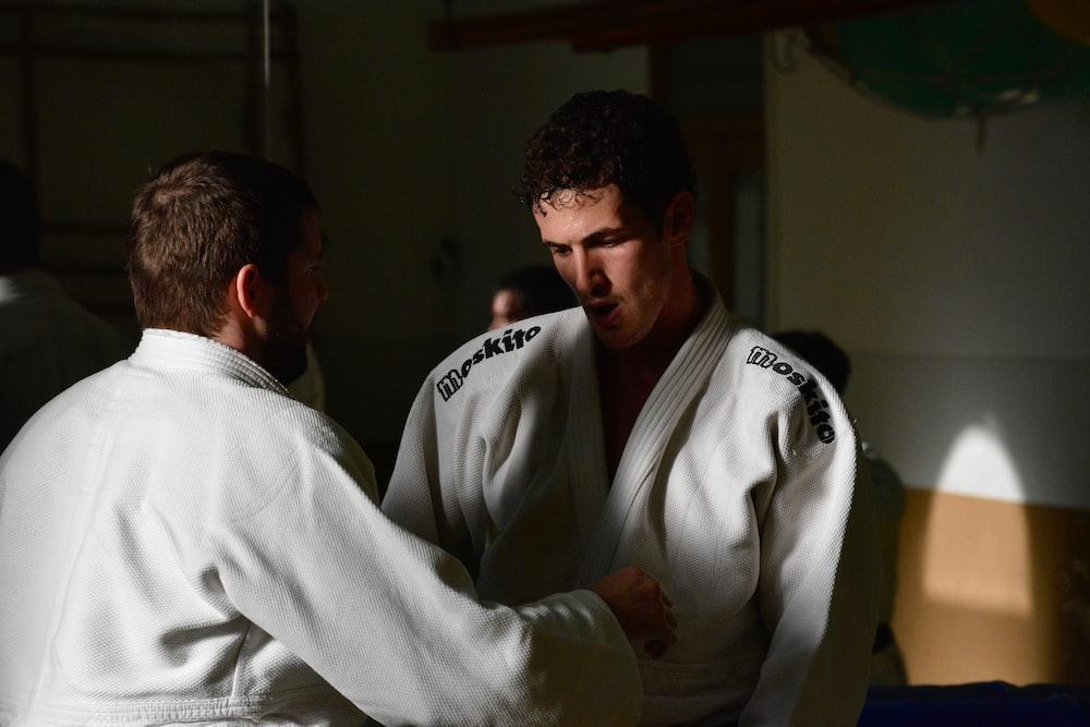 man wearing karate gi