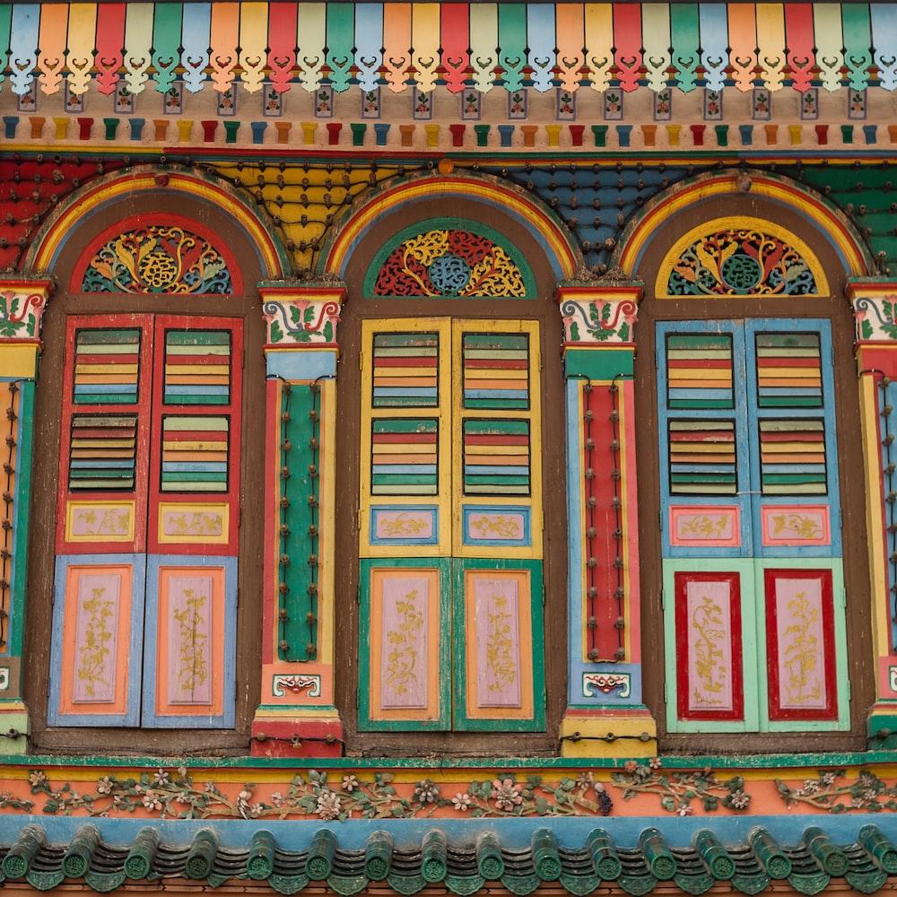 multicolored building