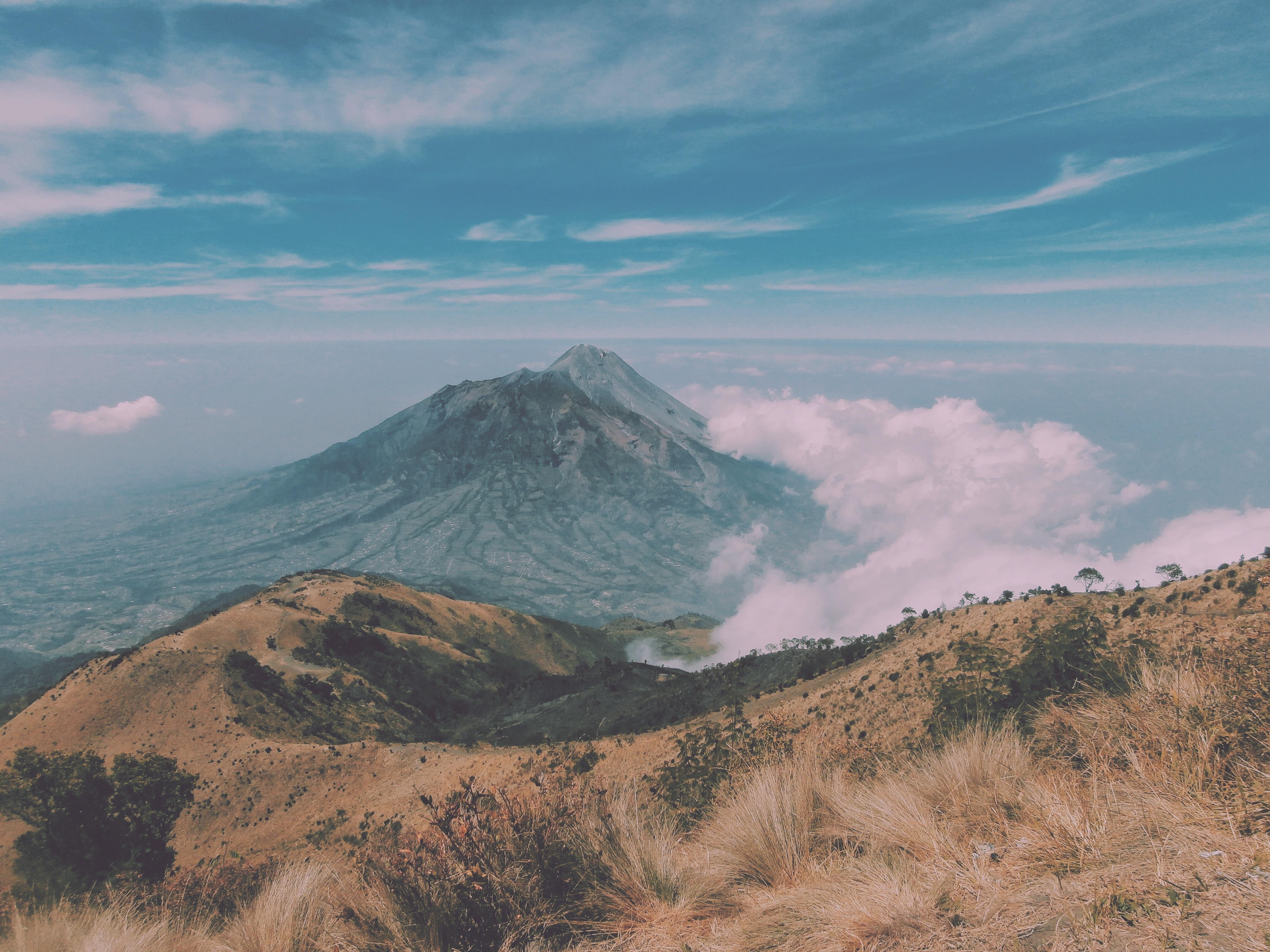 brown mountain photo during daytime