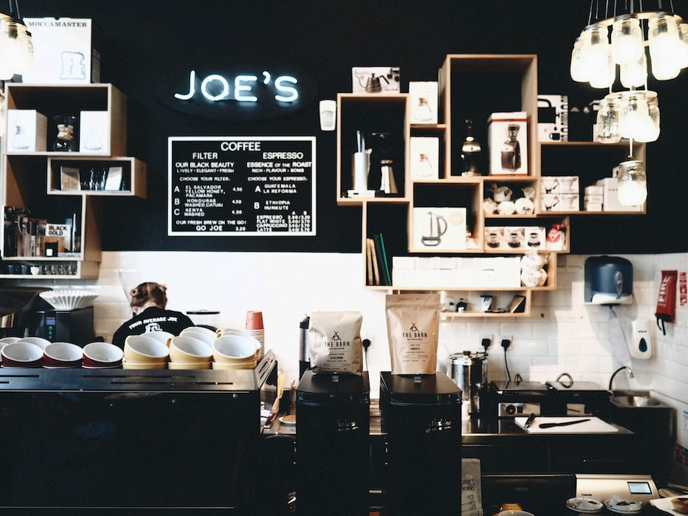 used coffee machines on counter