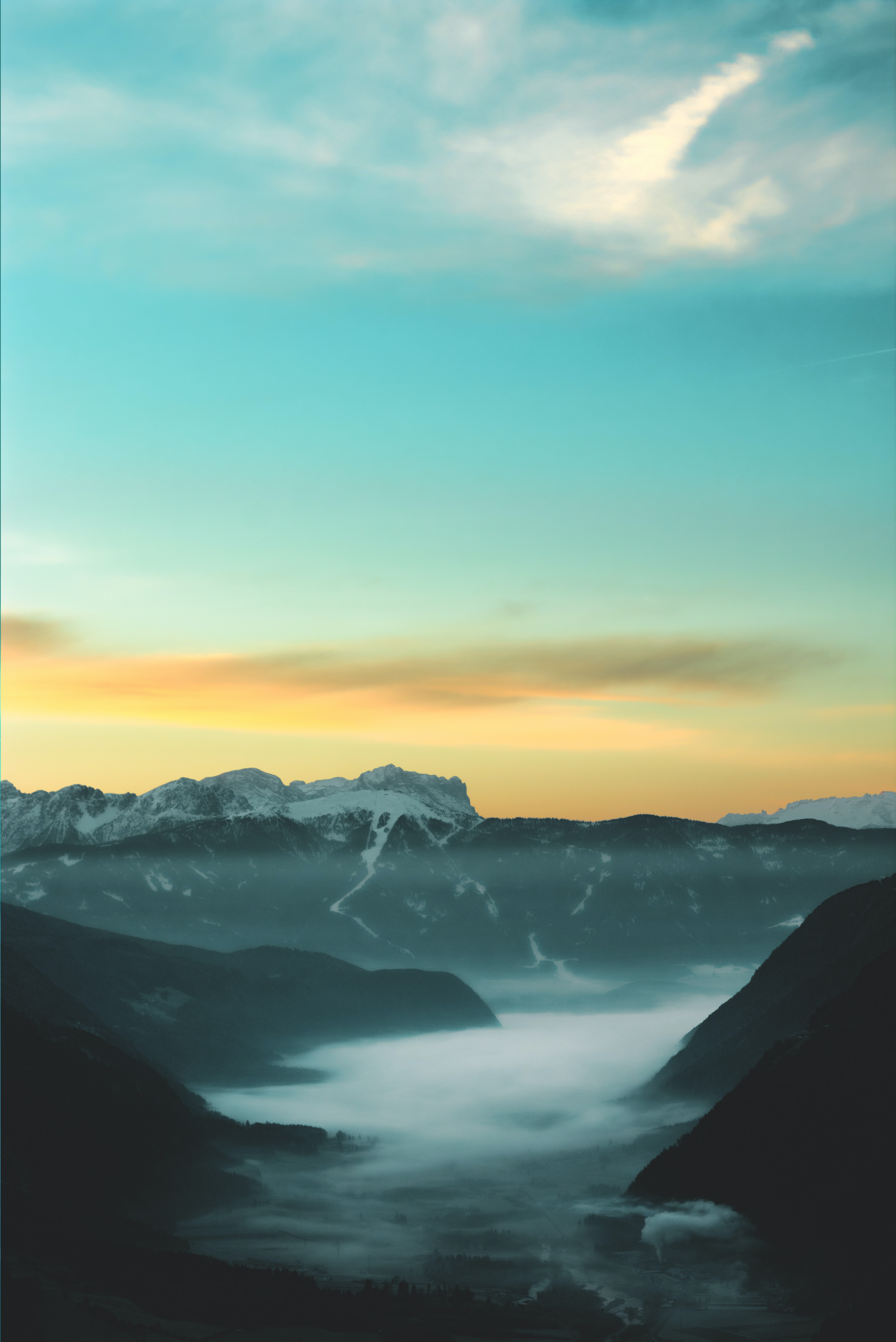 overlooking view of mountains
