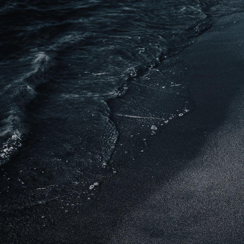 seashore with ocean water wave