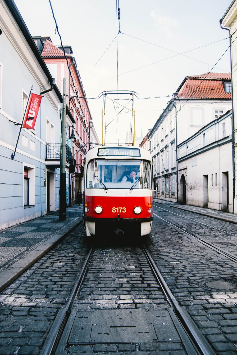 low angle photo of tram train