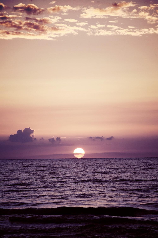 ocean during sunset