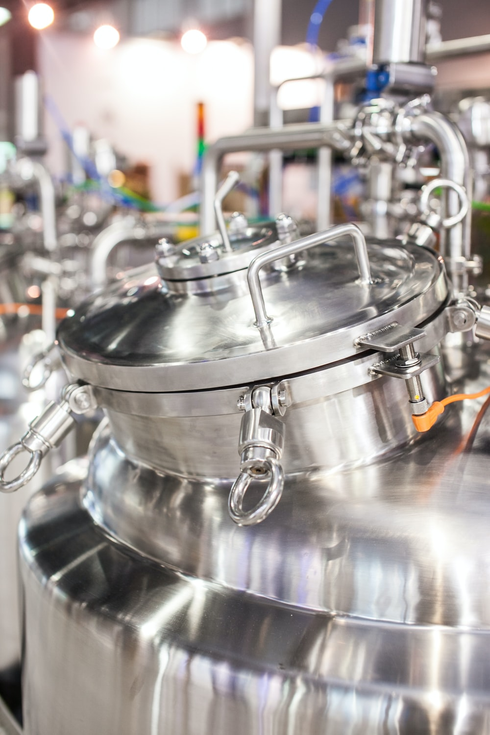 close up photography of stainless steel tank