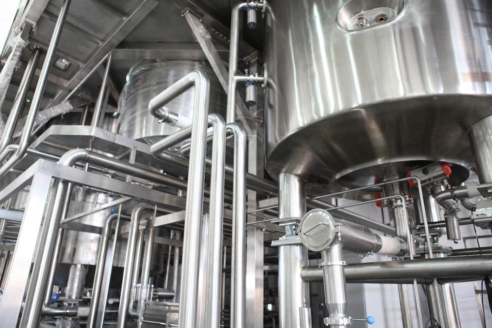 gray industrial machine