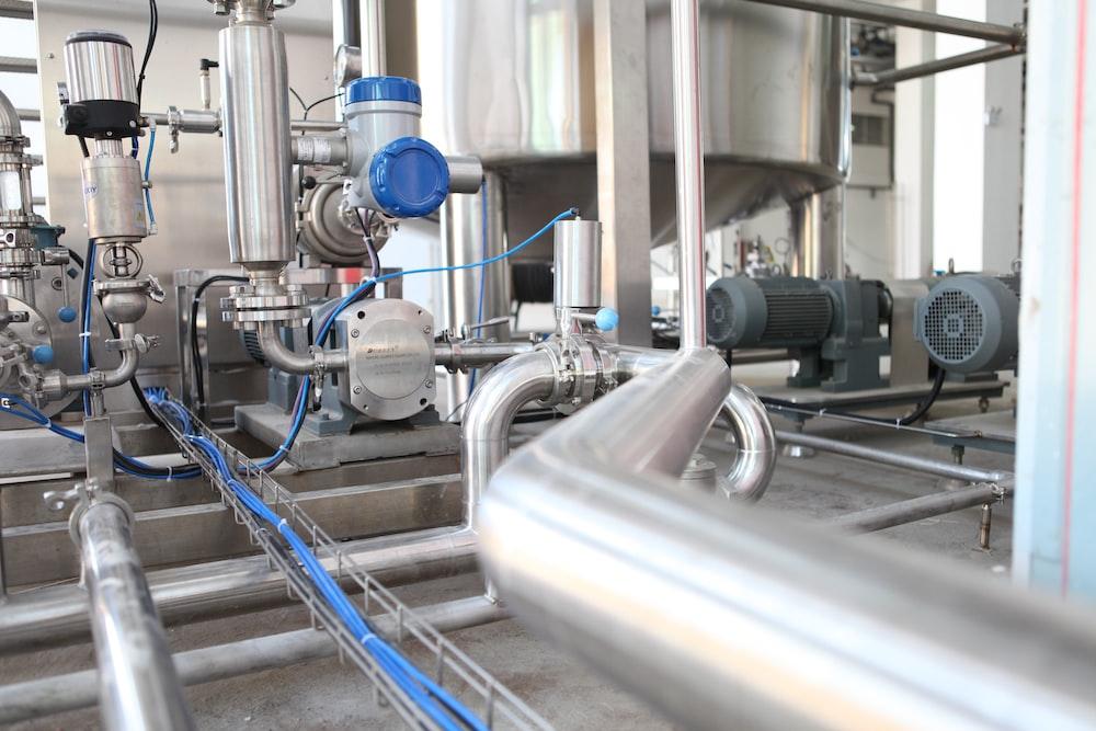 grey industrial equipment