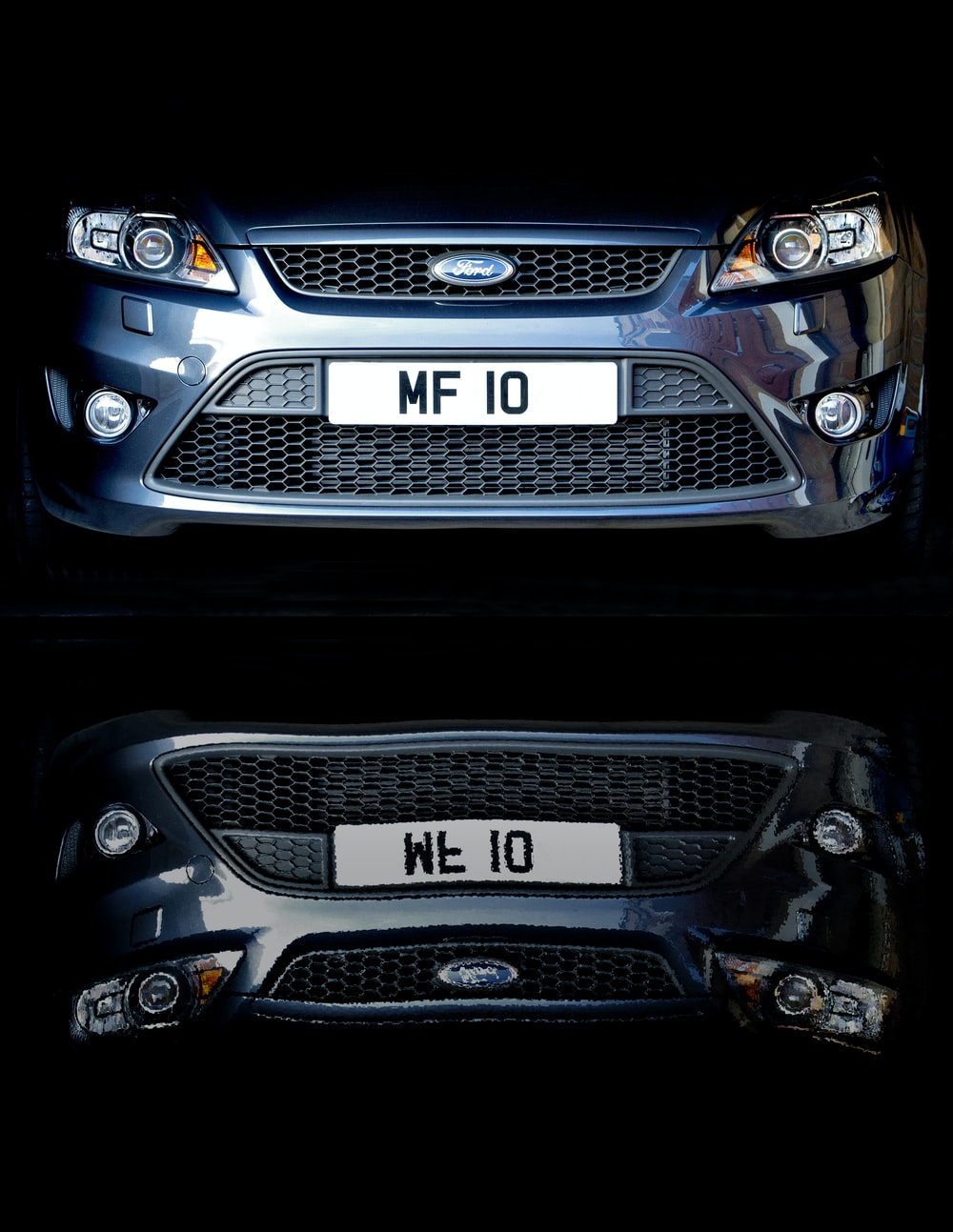 blue Ford front bumper