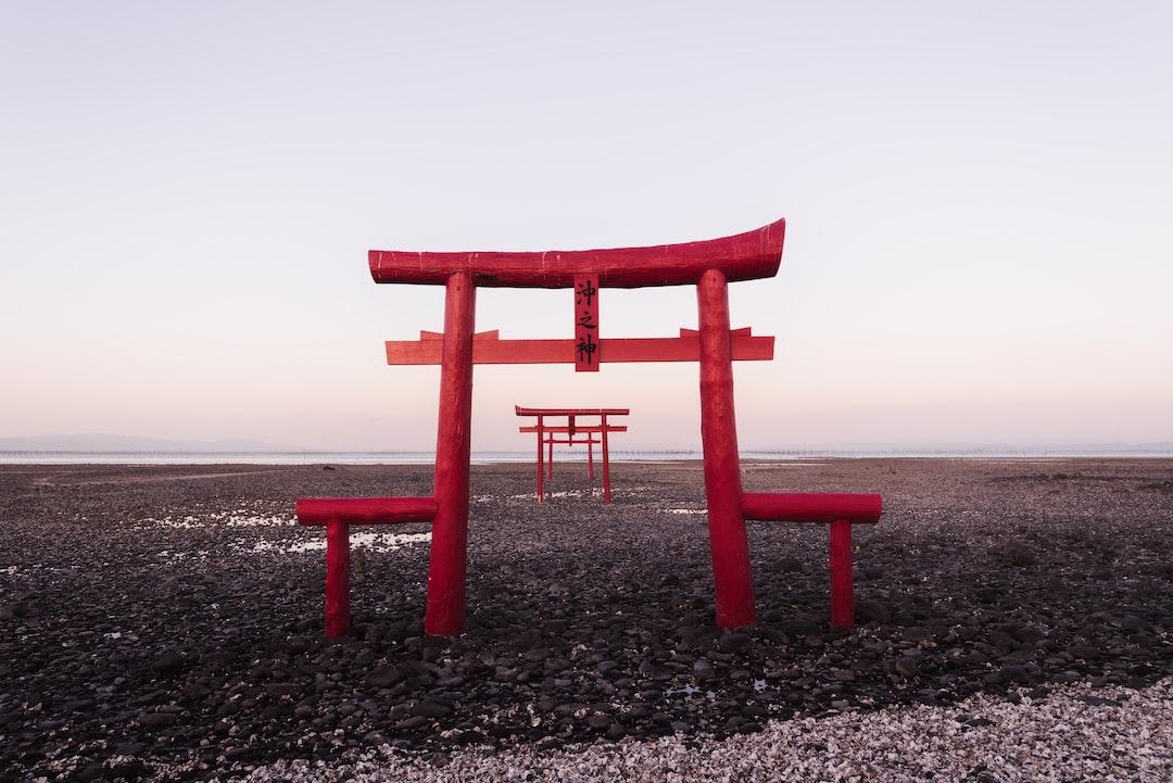 shinto gates in the sea