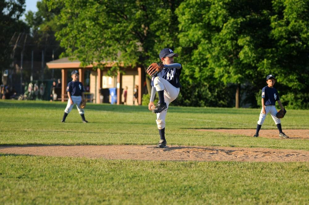 baseball pitcher on field
