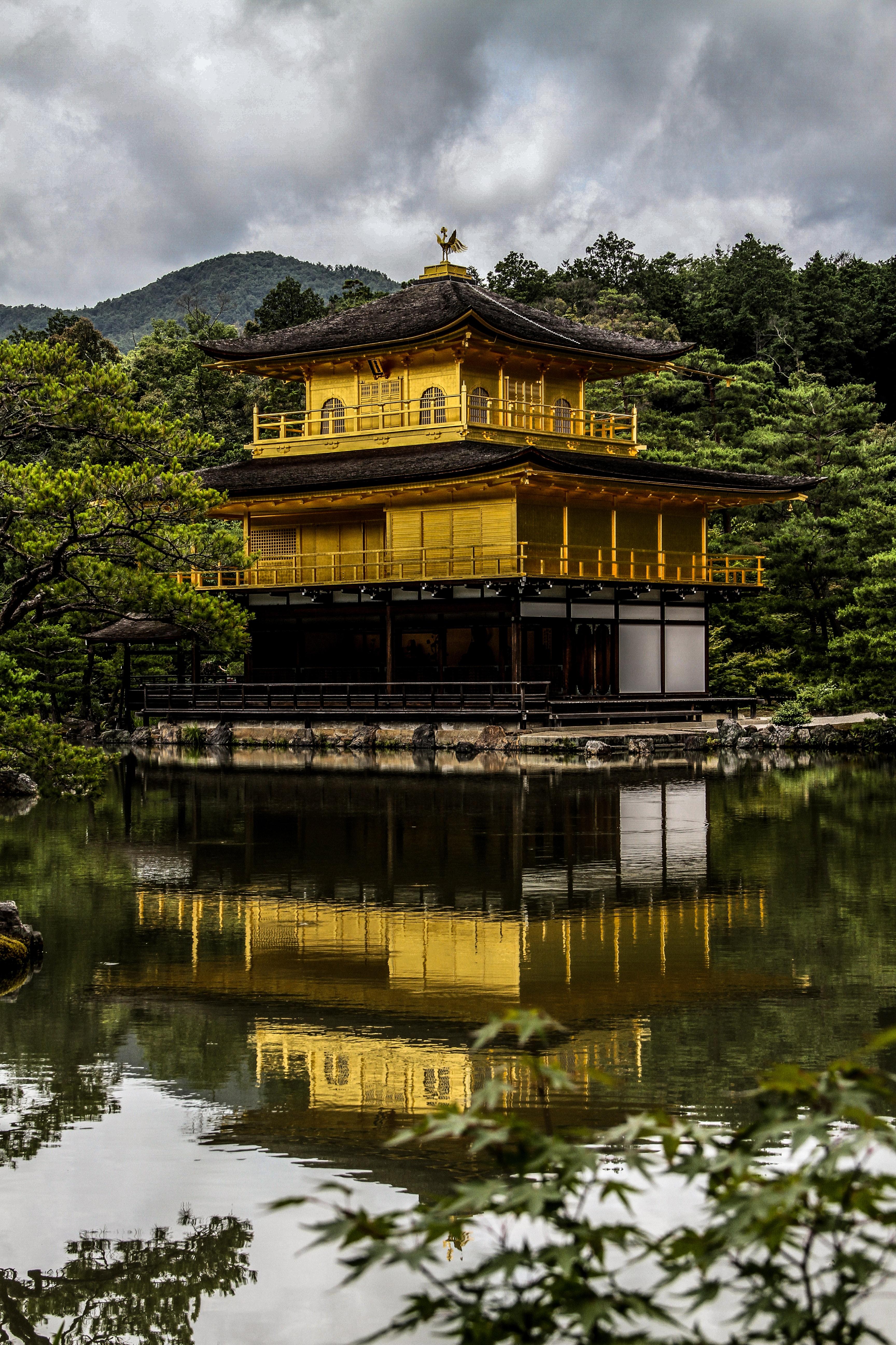 gold and black pagoda