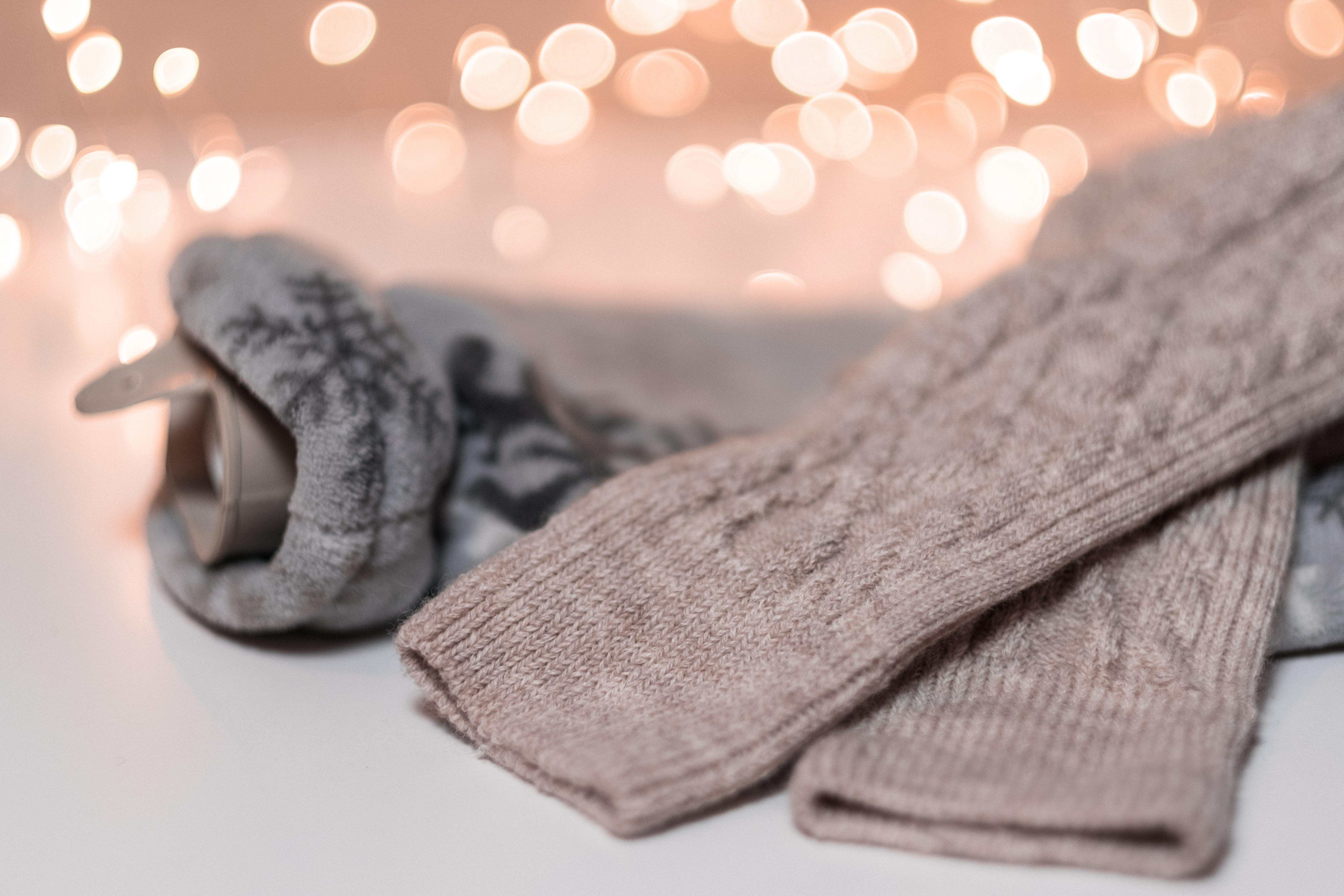 two grey and brown apparel bokeh photography