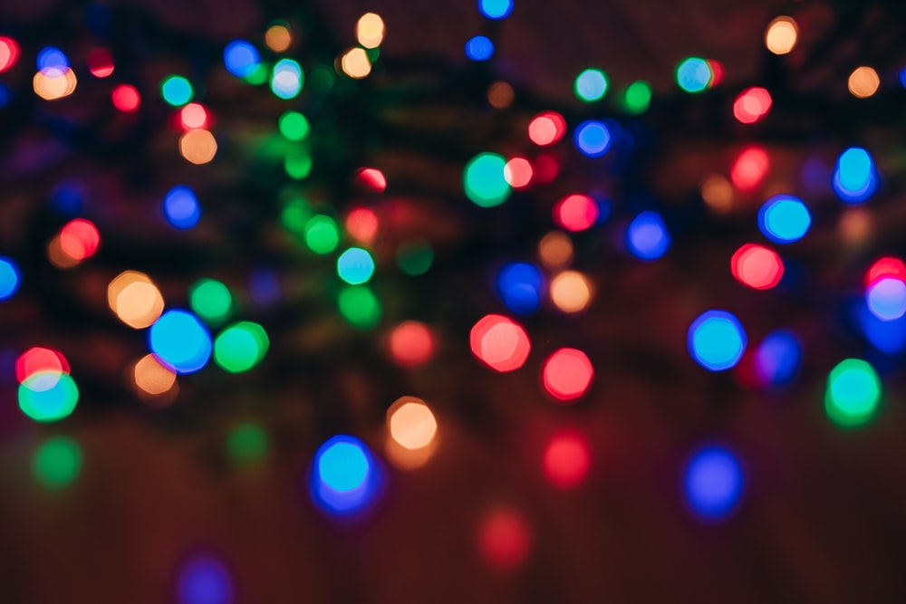 bokeh photography of multicolored lights