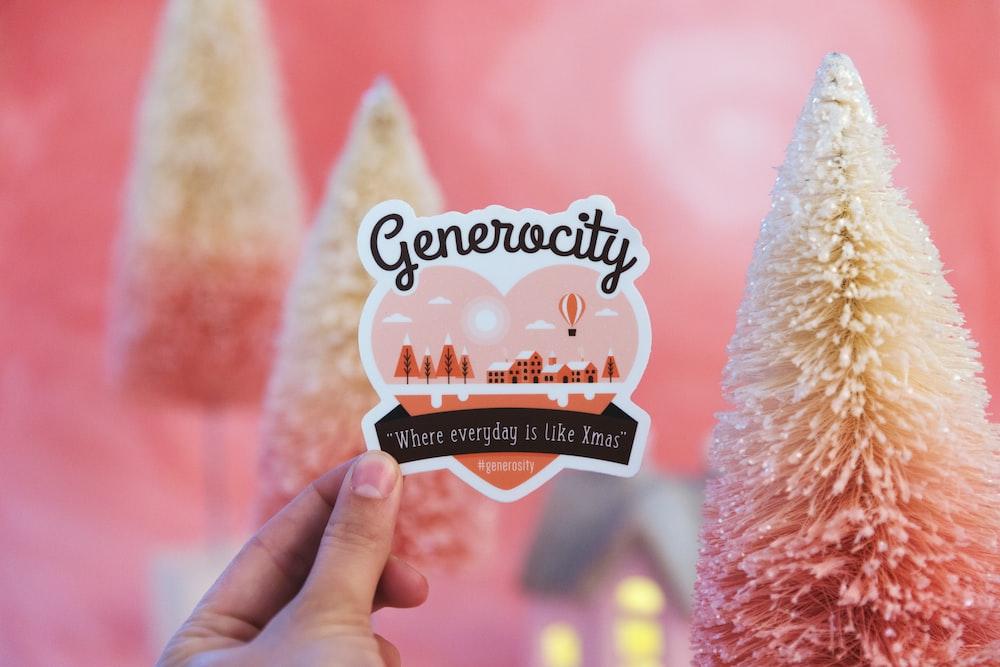 Generocity sticker