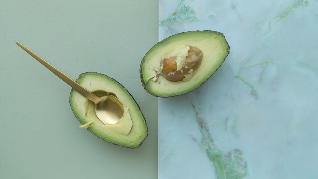 two sliced of avocados