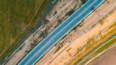 Prizren aerial photo of gray road