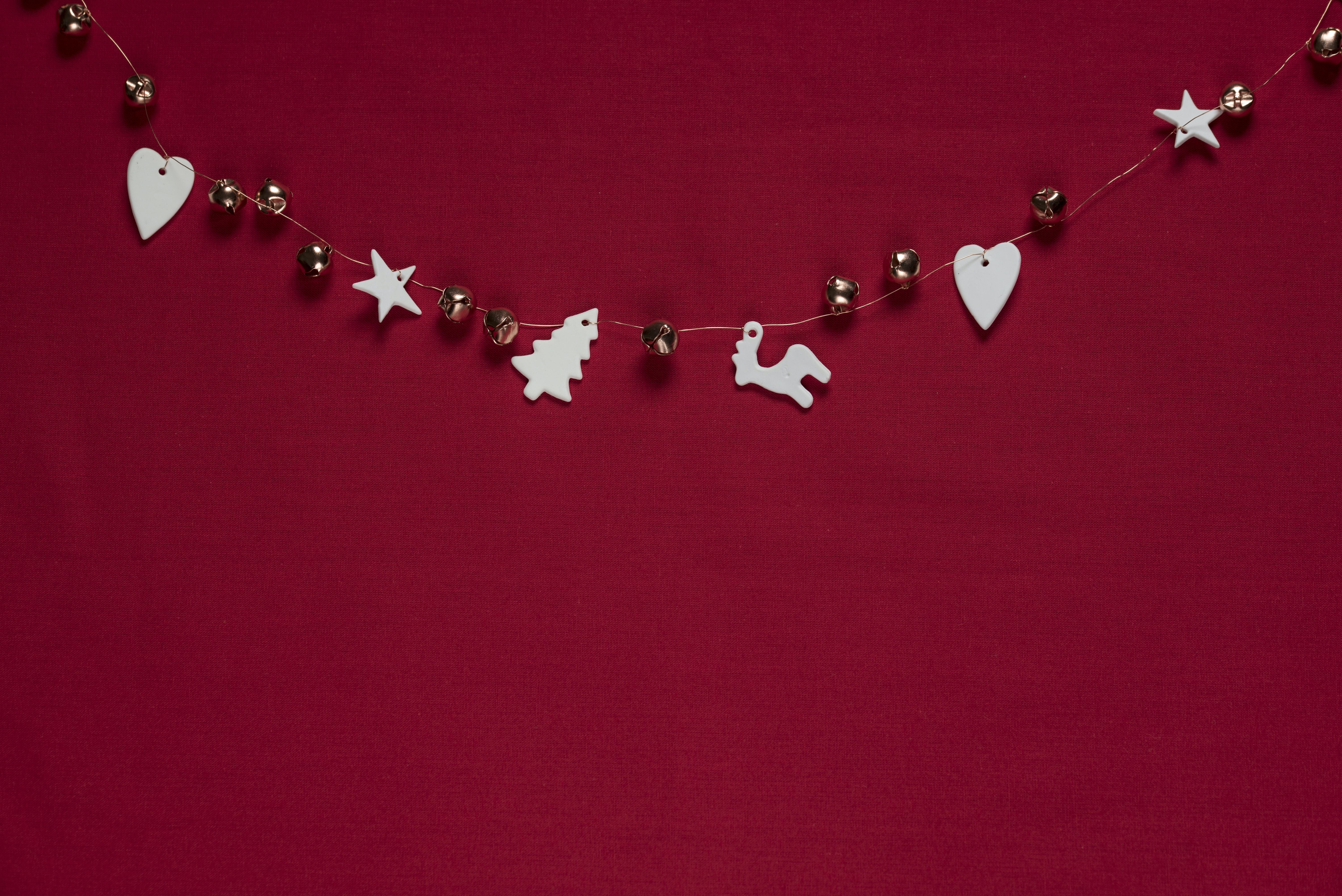 beaded white and gray Christmas beads wall decor