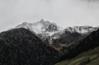 landscape photography of mountain coated with snow