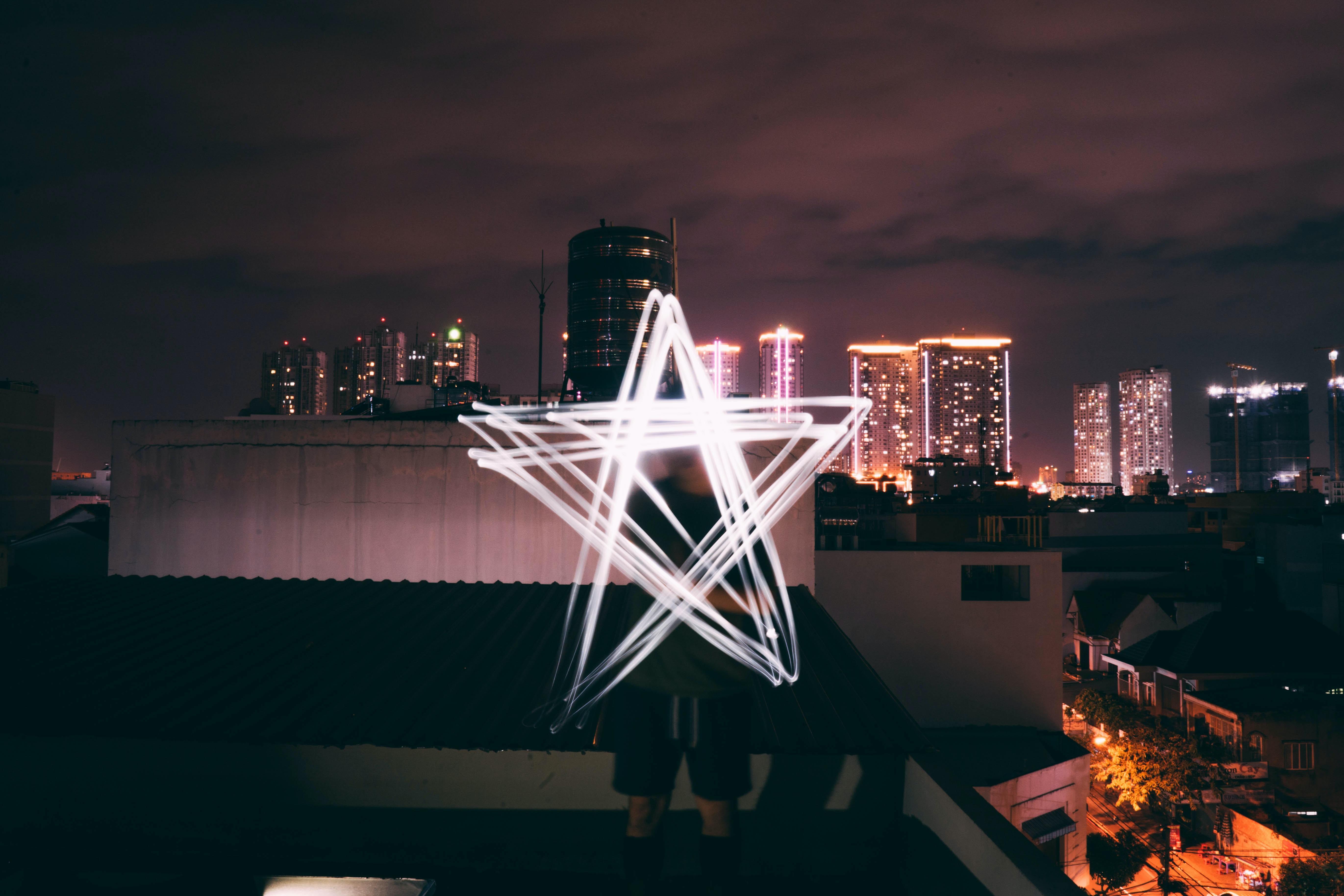 man holding star light