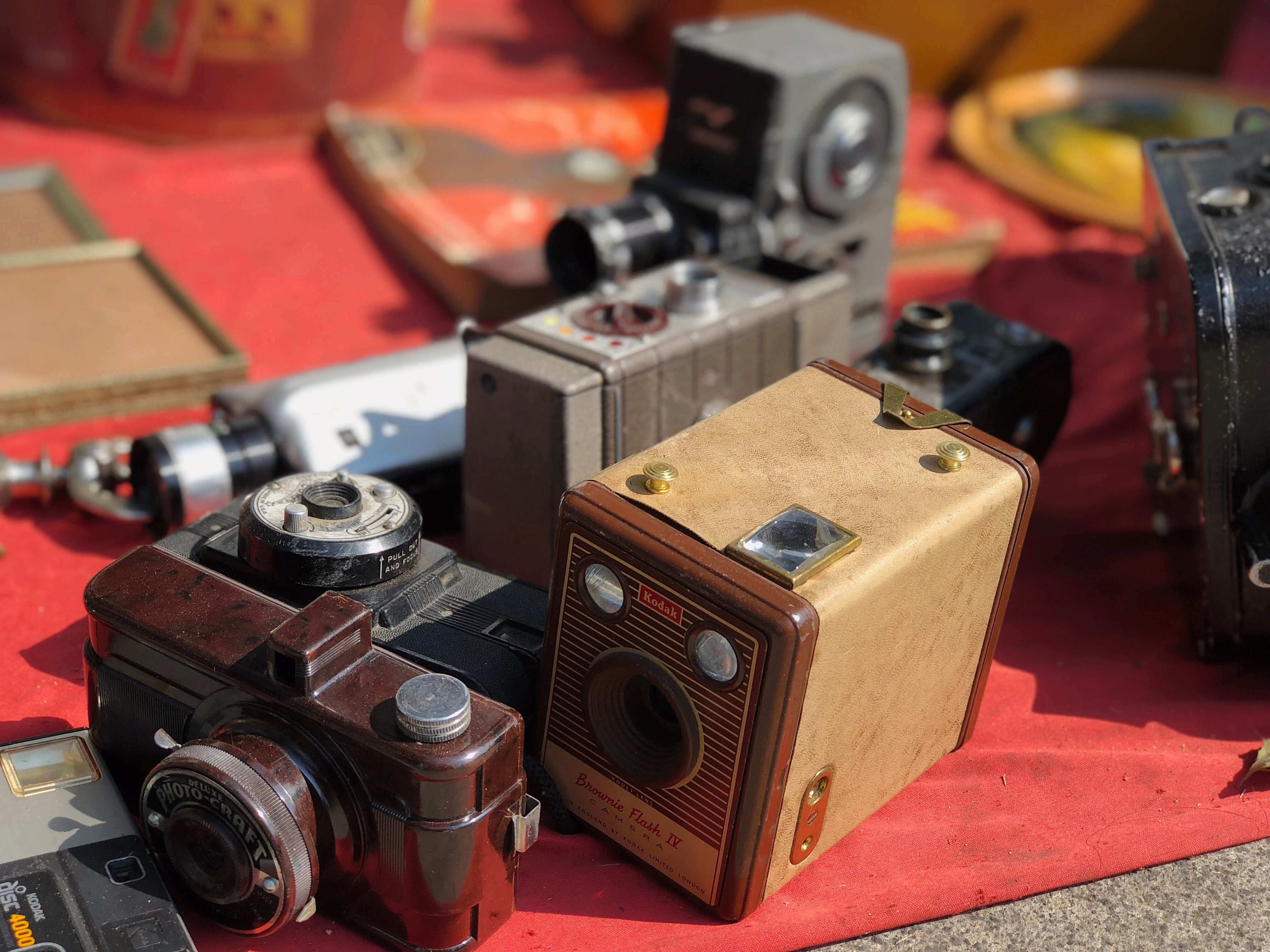 brown point-and-shoot camera