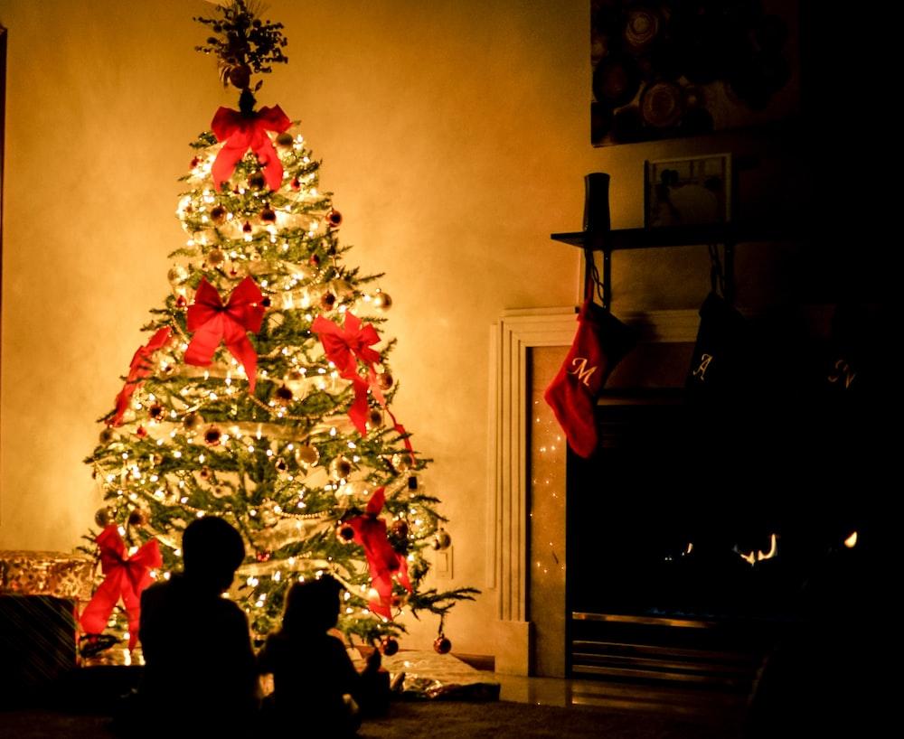 lighted Christmas tree