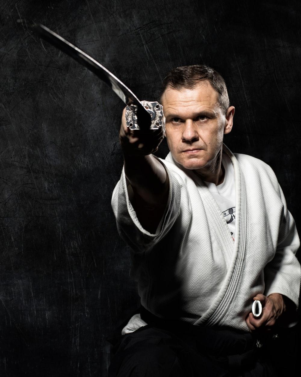 man using katana