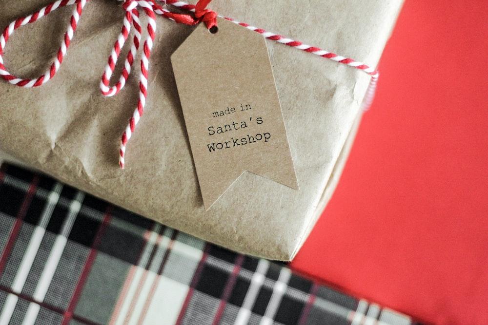 made in Santa's Workshop tag