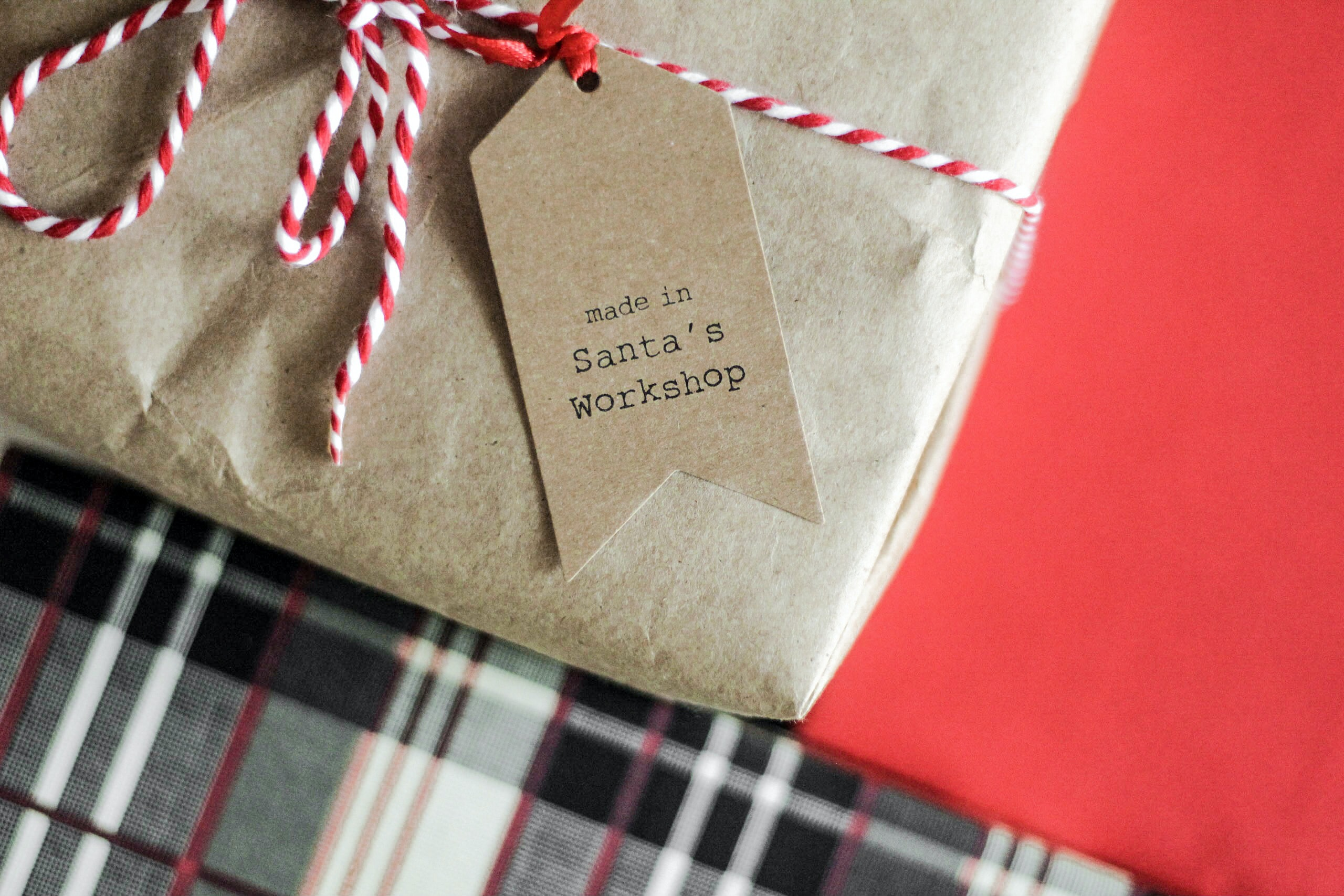 made in Santa's Workshop tag