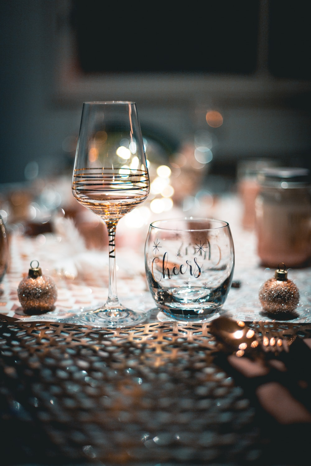 selective focus photography of wine glass