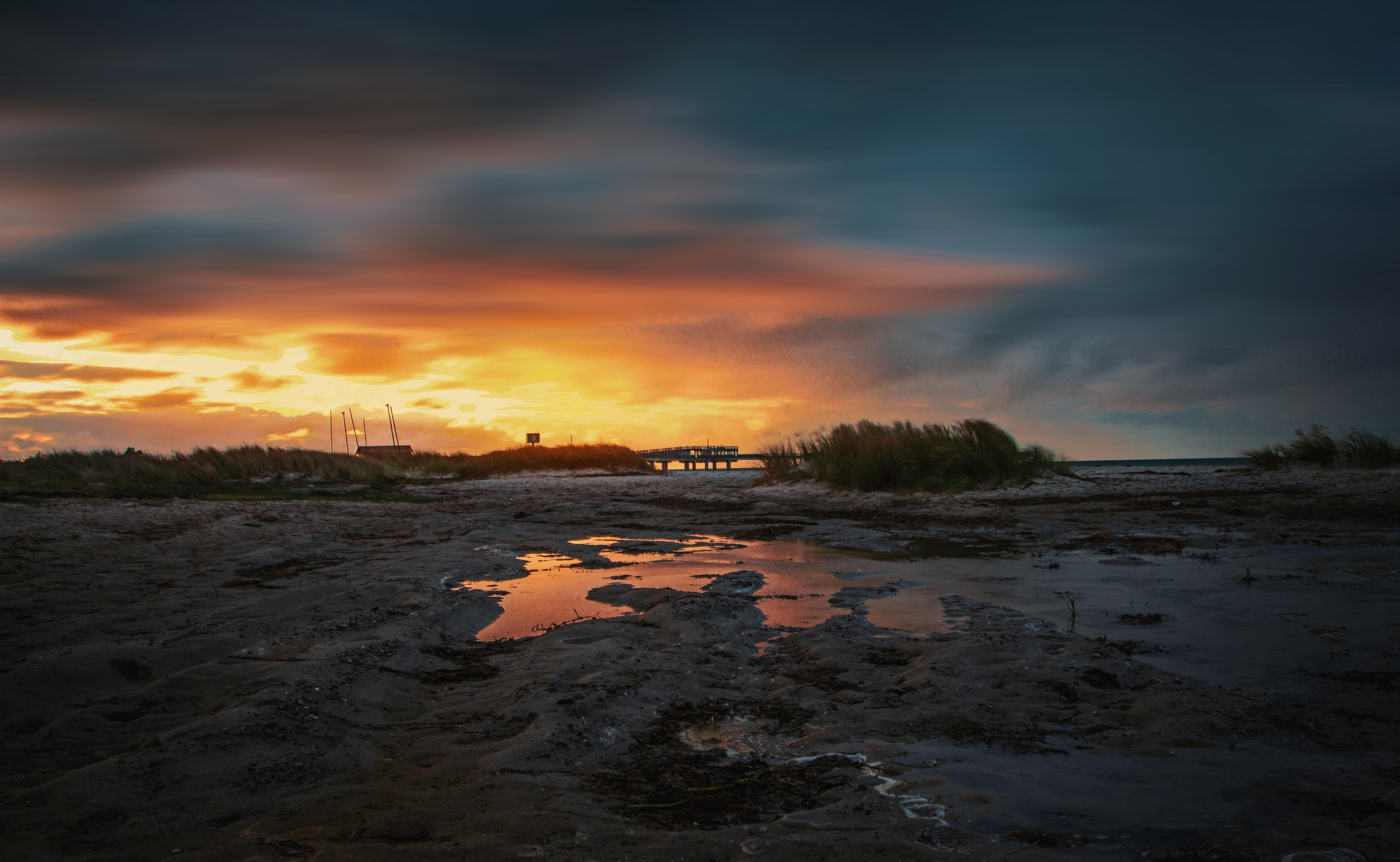 sunset over plains