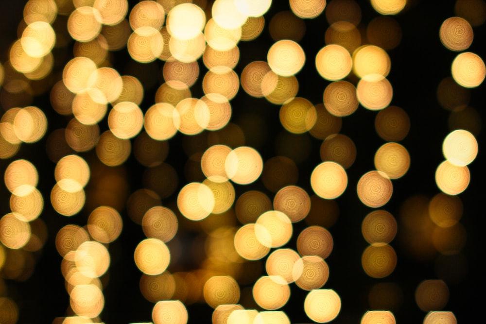 bokeh photography of yellow lights
