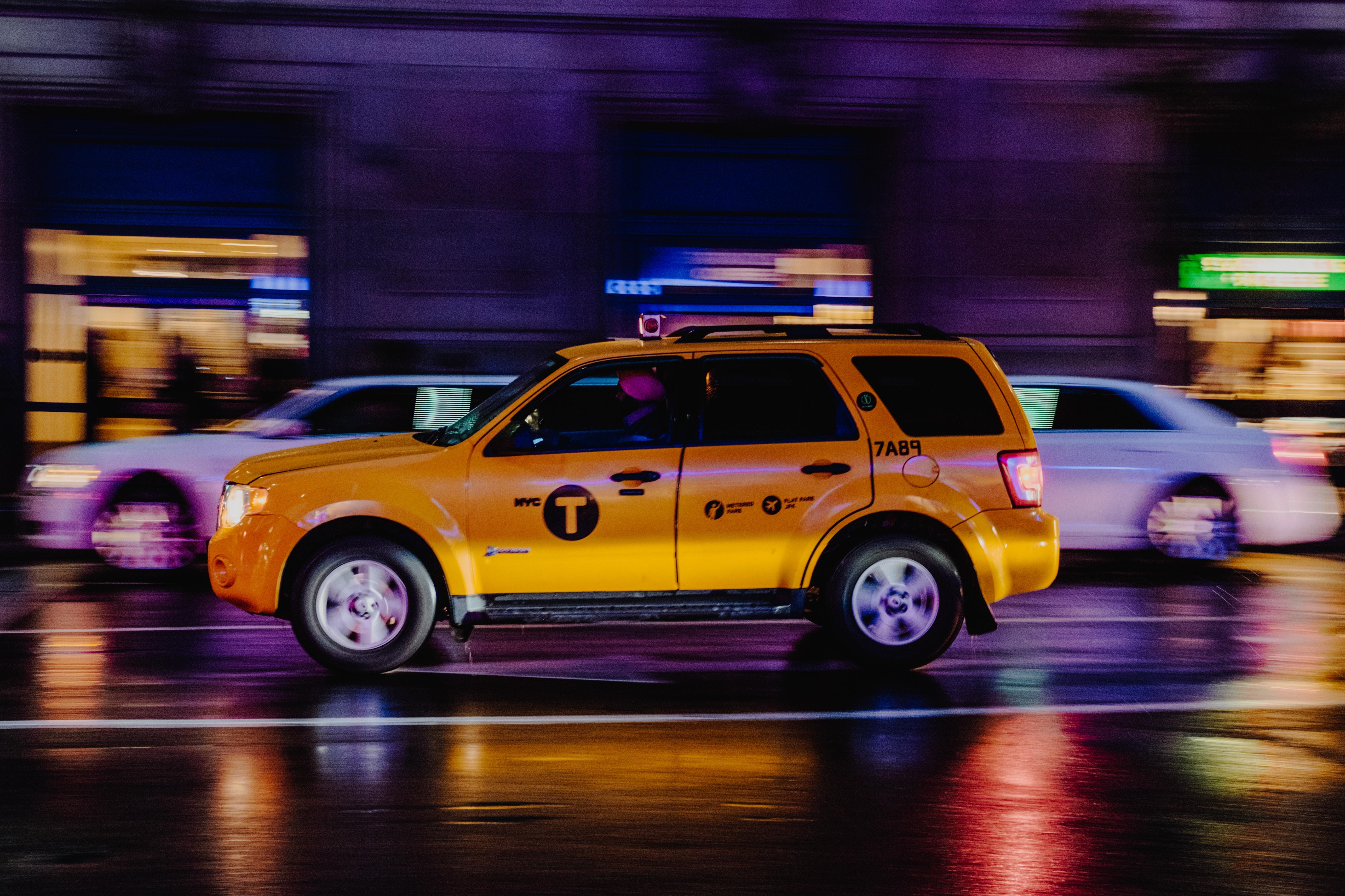 yellow SUV