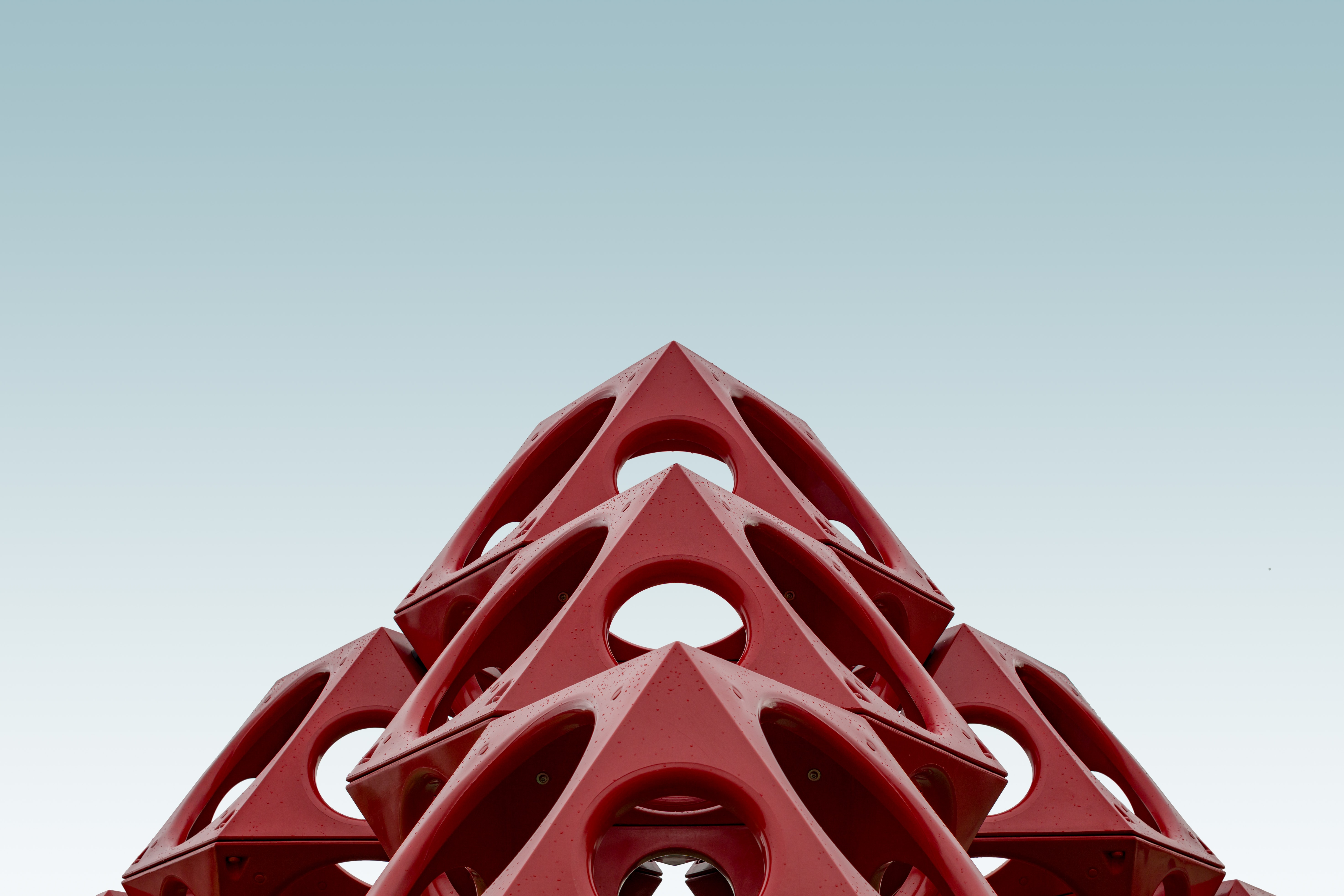red geometrical structure