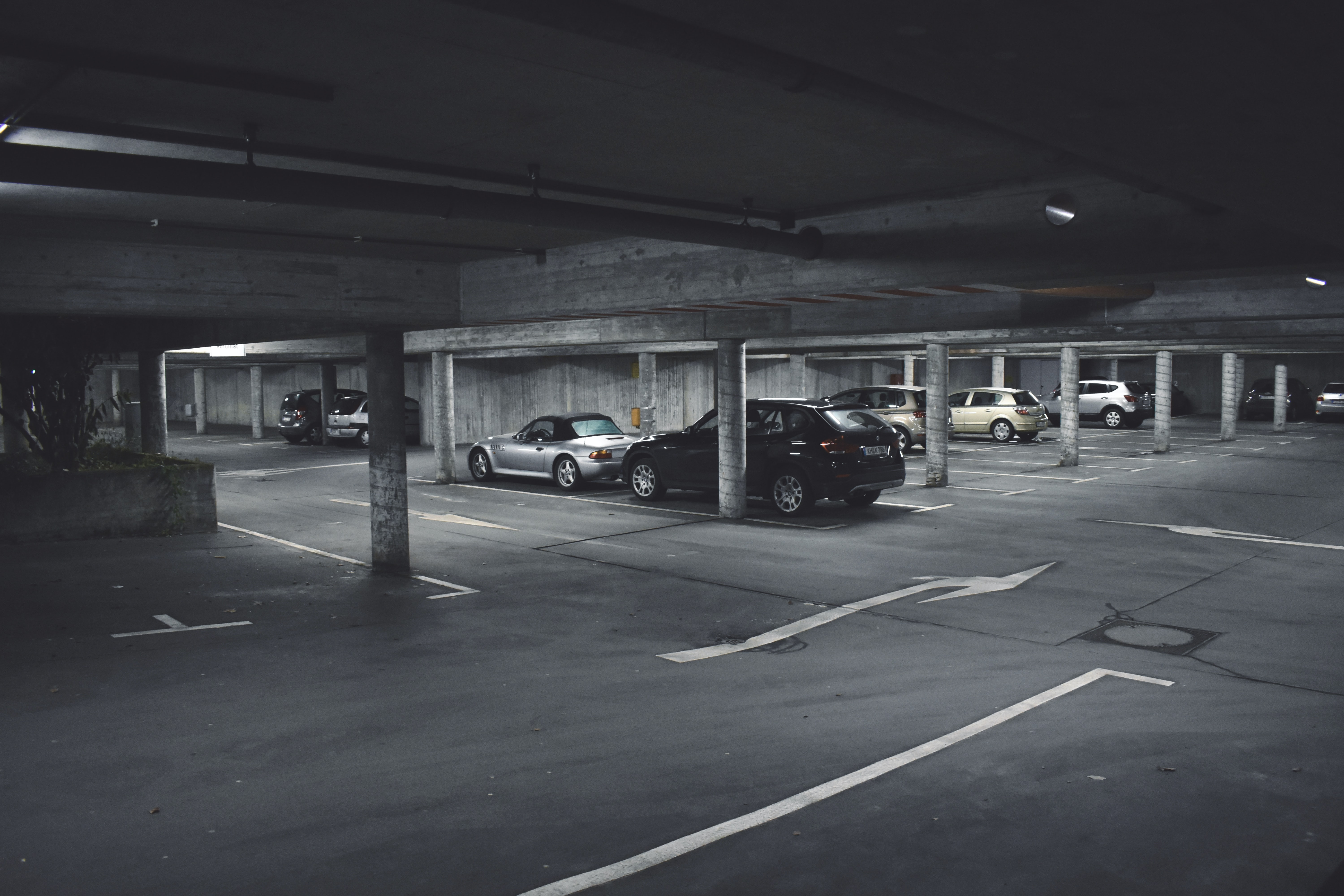 cars parked on parking area