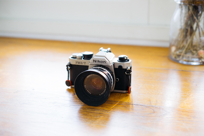 gray and black Nikon DSLR camera